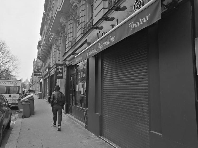 Geschlossenes Geschäft im 17. Arrondissement