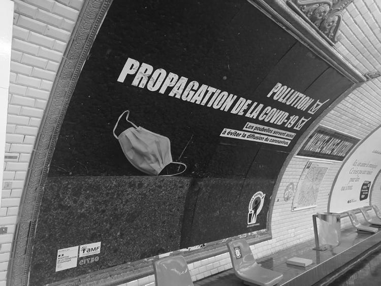 Plakatkampagne gegen Umweltsünder in Paris